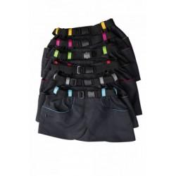 """Skirt """"KILT"""" mit pinken Streifen XS-S"""