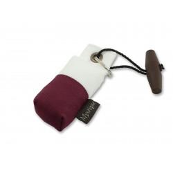 Schlüsselanhänger Mini Dummy - marking weiß/weinrot