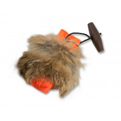 Schlüsselanhänger Mini Dummy -  orange mit Fell
