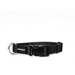 Nylon Halsband Profi 30mm schwarz 30-40cm