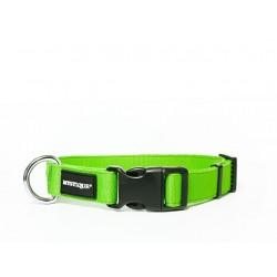Nylon Halsband Profi 25mm neon grün 50-60cm