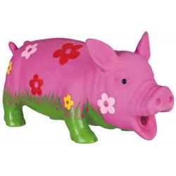 Schwein mit Blumen - grunzt wie Sau