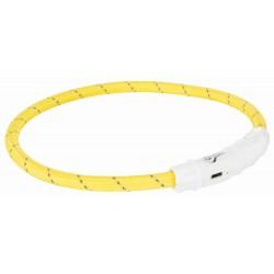 Leuchthalsband USB L/XL 65cm gelb