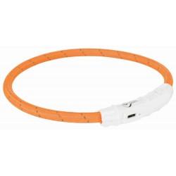 Leuchthalsband USB L/XL 65cm orange