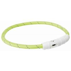 Leuchthalsband USB L/XL 65cm grün