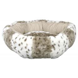 Bett Leika beige/weiß Tiger Donut