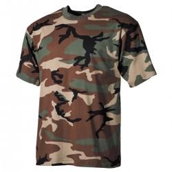 US T-Shirt, halbarm - M - woodland