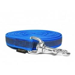 Gummierte Schleppleine 20mm blau 5m rostfrei Karabinerhaken mit HS