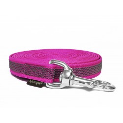 Gummierte Schleppleine 20mm purpur 5m rostfrei Karabinerhaken