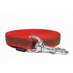 Gummierte Schleppleine 15mm rot 10m rostfrei Karabinerhaken