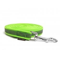 Gummierte Schleppleine 12mm neon grün 5m mit HS