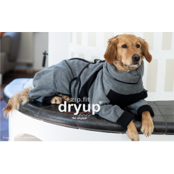 DryUp body ZIP.FIT - anthrazit XS (48cm) - Bademantel