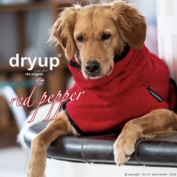 DryUp Cape Standard - red pepper L (65cm) - Bademantel