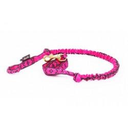 Fin Leine mit Ruckdämpfer - 1 Hund - Lang - pink M-M
