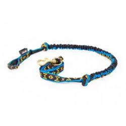 Fin Leine mit Ruckdämpfer - 1 Hund - Canicross - blau M-M