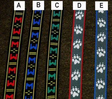 Muster von Gurtbändern